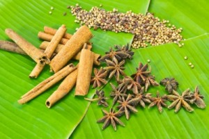 Cinnamon sticks and star anise are natural home fragrances
