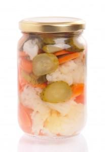 jar of pickled cauliflower